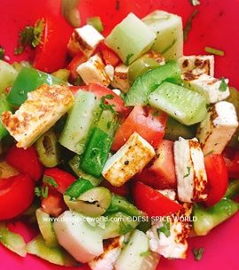 Garden Fresh Salad with Grilled Paneer