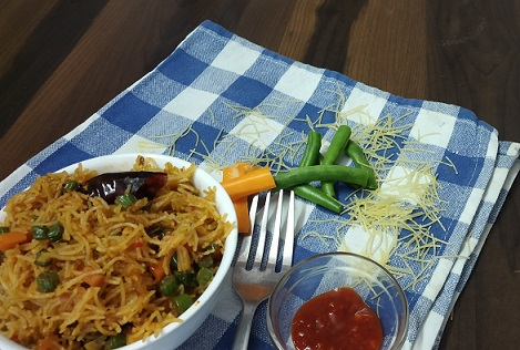 Bambino Vermicelli in Schezwan Fried Rice Style