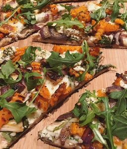Butternut Squash and Carmelized Onions Pizza