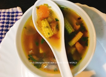 Mixed Veg Lemon Soup