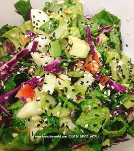 Fresh Rainbow Sesame Salad