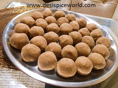Atta(Whole wheat) and Alsi(Flaxseed) Laddoos