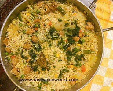 Soya Pulao with Veggies